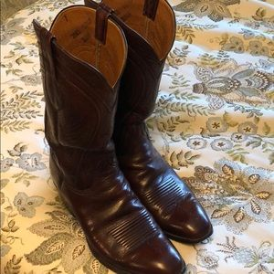 Men's Lucchese goatskin boots size 10 1/2